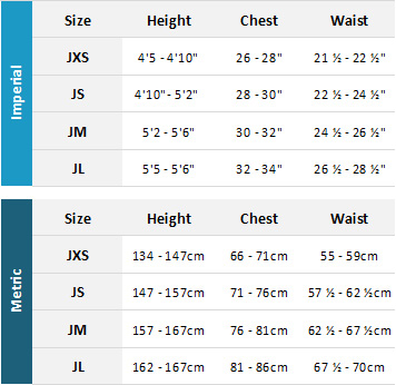 Gul Junior Drysuits 19 Mens Size Chart
