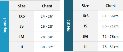 Gul Junior Marine Garments 19 0 Size Chart