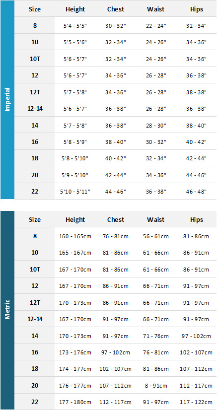 Gul Womens Wetsuits 19 Womens Size Chart