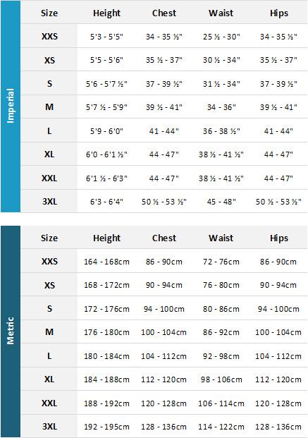 Helly Hansen Mens Marine Garments 19 0 Size Chart