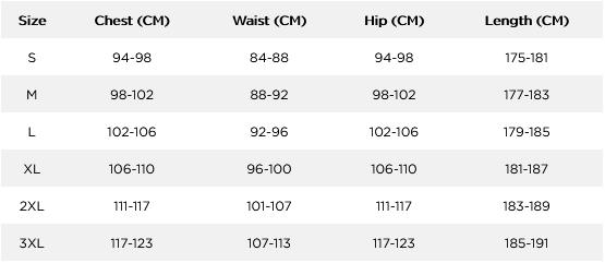 Jobe Mens Wetsuits 21 Mens Size Chart