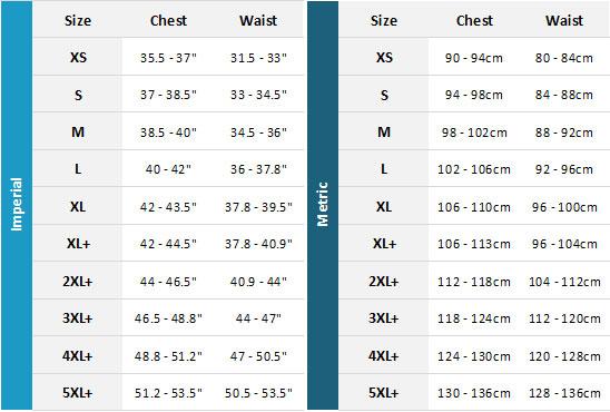 Jobe Neoprene Impact Vest 19 Mens Size Chart