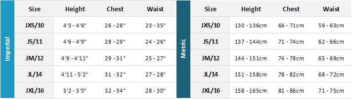 Mystic Junior Wetsuits 21 0 Size Chart