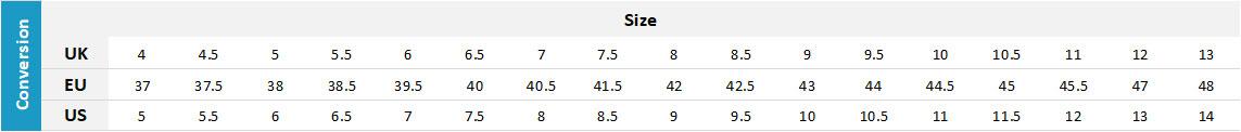 Musto Footwear 19 0 Size Chart