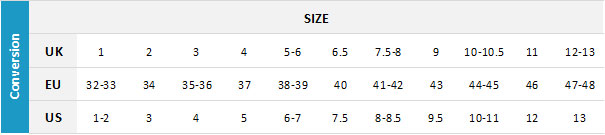 Mystic Footwear 19 0 Size Chart