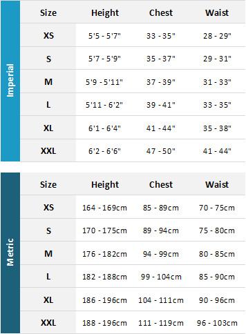 Mystic Mens Drysuits 19 Mens Size Chart