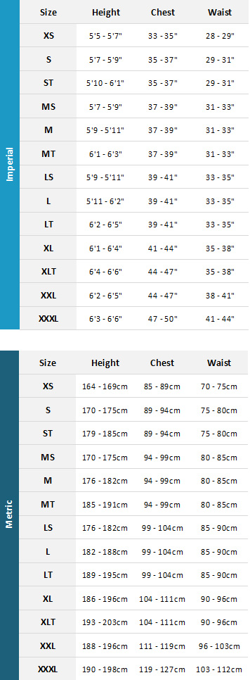 Mystic Mens Wetsuits 19 Mens Size Chart