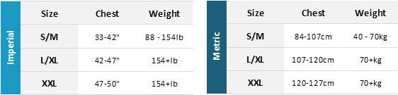NKE Rockhopper BA Mens Size Chart