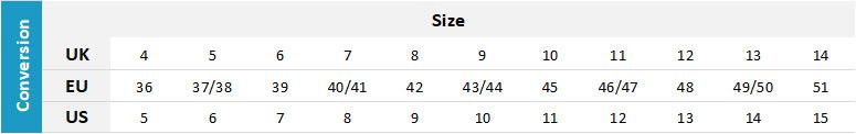 Nava Footwear 0 Size Chart