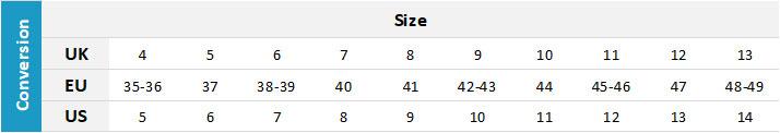 Neil Pryde Adult Footwear 19 0 Size Chart