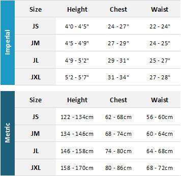 Palm Junior Outerwear 19 Mens Size Chart