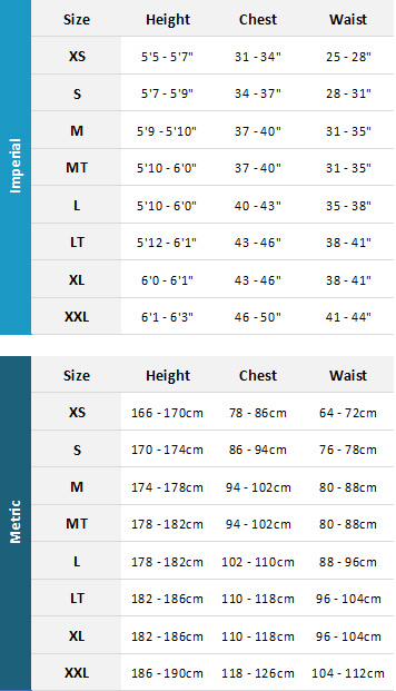 Palm Mens Wetsuits 19 Mens Size Chart