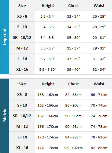 Palm Womens Drysuits 19 Womens Size Chart