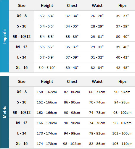 Palm Womens Wetsuits 19 Womens Size Chart