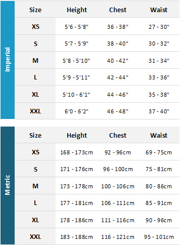 Prolimit Mens Drysuits 19 0 Size Chart