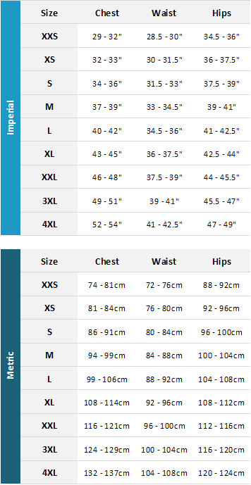 Slam Mens Marine Garments 19 Mens Size Chart