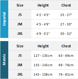 Typhoon Junior Drysuits 19 Mens Size Chart