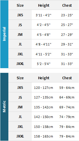 Typhoon Junior Wetsuits 19 Mens Size Chart