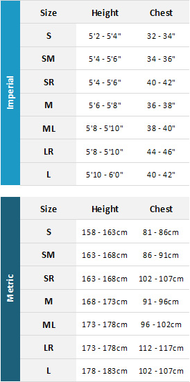 Typhoon Womens Drysuits 19 Womens Size Chart