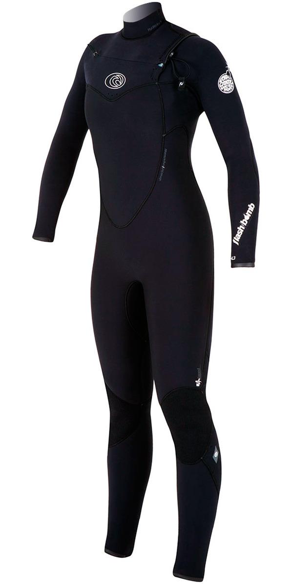 Rip Curl Womens Flashbomb 5/3mm CHEST ZIP WSM4GG Wetsuit BLACK